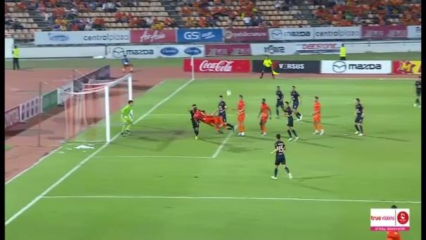 El impresionante golazo de chalaca doble en el fútbol tailandés
