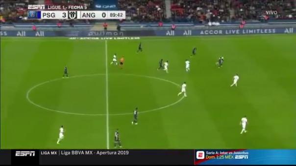 Neymar y su gol ante Angers.