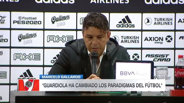 El técnico de River Plate le respondió los elogios a Pep Guardiola.