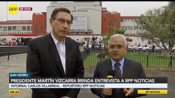 Martín Vizcarra brinda entrevista a RPP Noticias por su 56º aniversario.