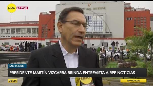 Martín Vizcarra ofreció entrevista a RPP Noticias.