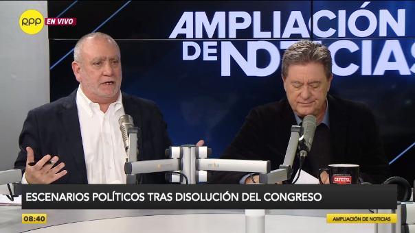 Debate entre el periodista Augusto Álvarez-Rodrich y en analista Jaime de Althaus.