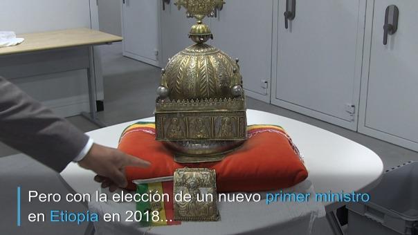 La corona sacada de Etiopía