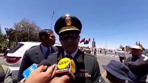 General Roy Ugaz Suárez, jefe de la Novena Macro Región Policial.