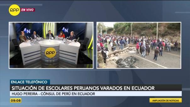 Son más de 200 estudiantes peruanos los que permanecen atrapados en Ecuador.