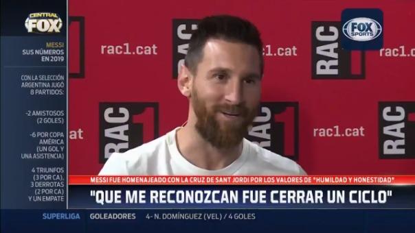 El momento exacto en el que Lionel Messi habla del comportamiento de su hijo Mateo