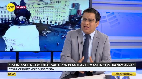 César Vásquez, excongresista de Alianza Para el Progreso.