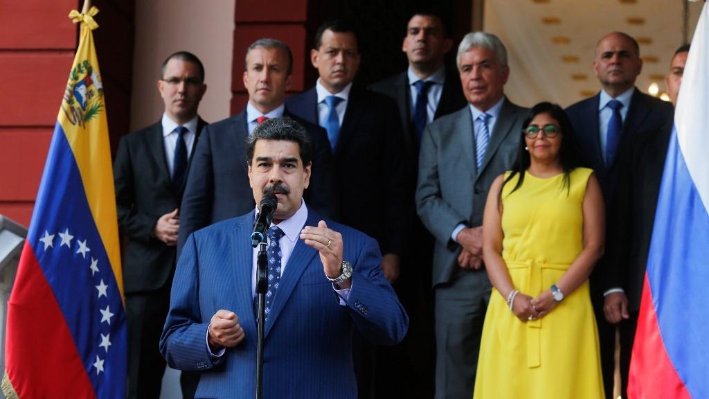 El presidente de Venezuela, Nicolás Maduro, durante un evento público.