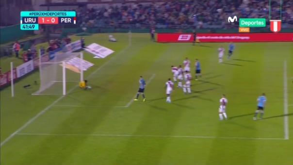 Así fue la ocasión de gol errada por Matías Vecino en el área de la Selección Peruana.
