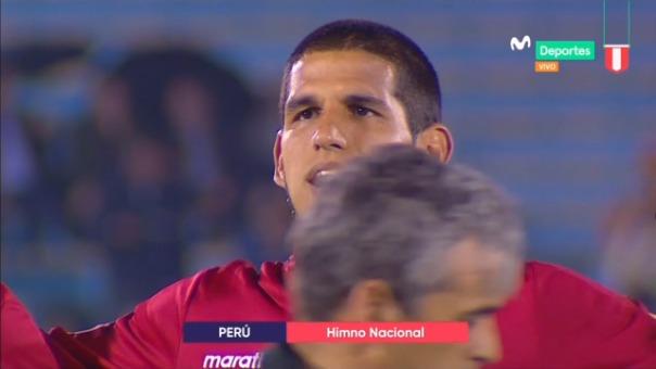 Así fue cómo la Selección Peruana entonó el himno nacional en el estadio Centenario.