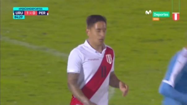Así fue la ocasión de gol que se perdió Alejandro Hohberg ante Uruguay.