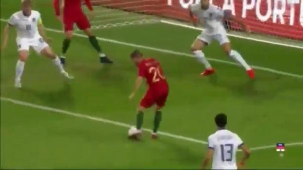 Bernardo Silva y su gol.