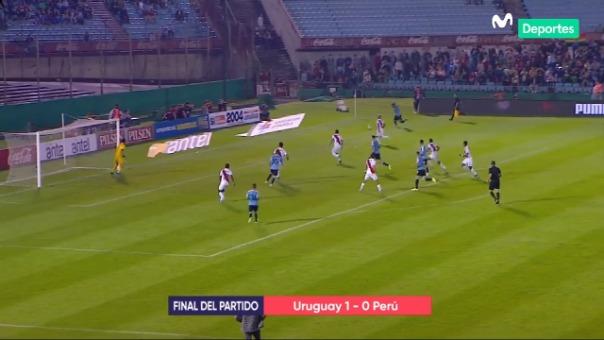Perú ante Uruguay.
