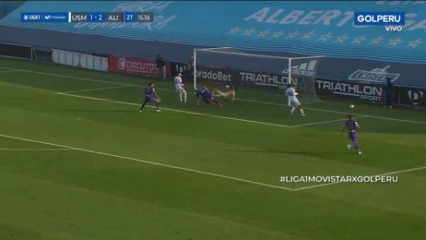 Así fue el gol marcado por Federico Rodríguez en el partido contra San Martín.