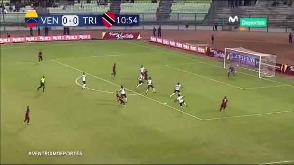 Salomón Rondon marcó el 1-0 a favor de Venezuela sobre Trinidad y Tobago por amistoso internacional