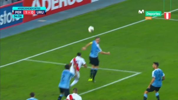 Así fue el gol de Christofer Gonzales ante Uruguay.