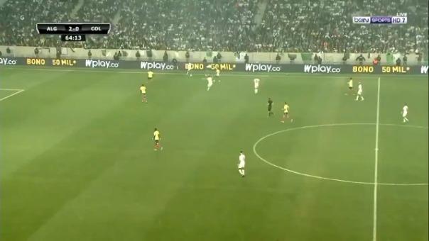 Riyad Mahrez y su gran gol en el duelo entre Argelia y Colombia por amistoso internacional