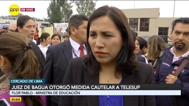 Ministra de Educación se pronunció por el caso Telesup.