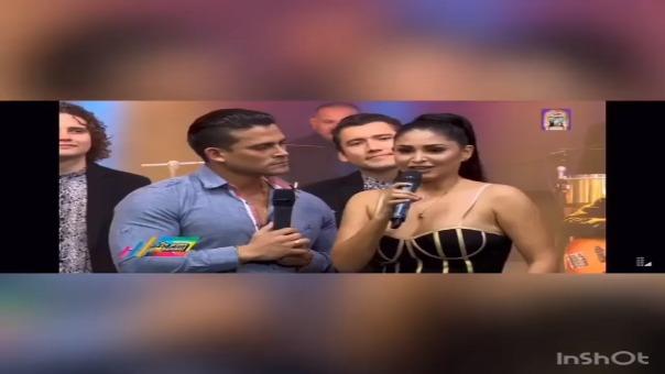 Christian Domínguez y Pamela Francoen el programa