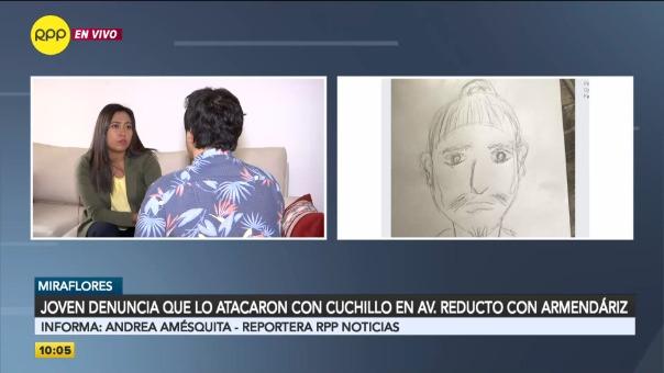 Joven denunció que lo atacaron con cuchillo en Miraflores.
