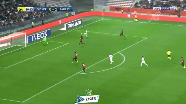 Así fue el segundo gol de Ángel di María frente al Niza.