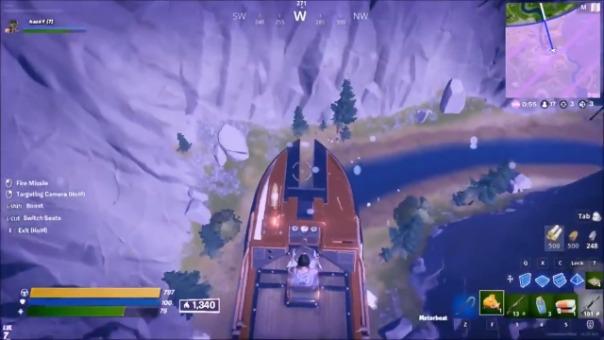 El fallo permite convertir el bote acuático de Fortnite en un bote volador.