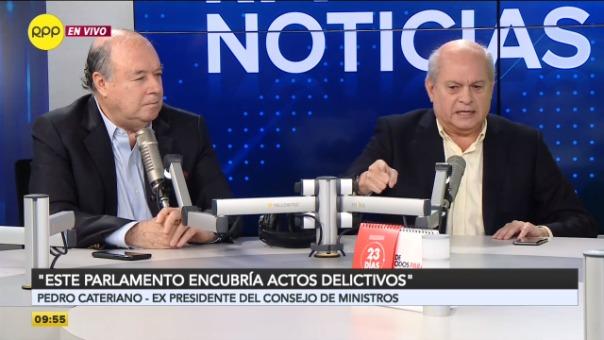 Pedro Cateriano y Raúl Castro debatieron sobre la situación política del país.