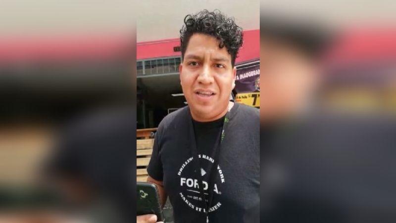 """Video en el que el agresor dice que Ernesto Blume es su """"padrino""""."""