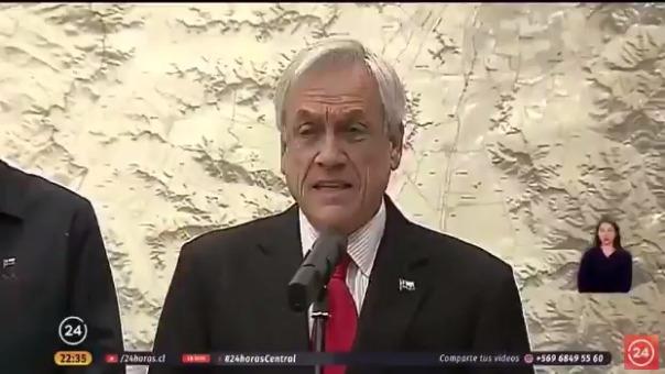 Sebastián Piñera, presidente de Chile, en declaraciones a la prensa.