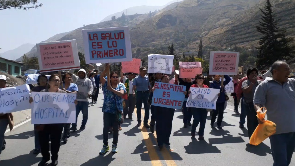 Protesta en Matucana