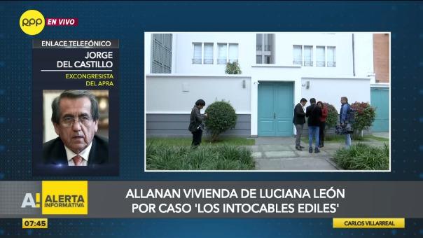Vivienda de excongresista Luciana León es allanada.