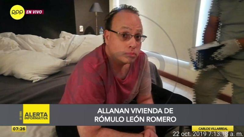 La vivienda de Rómulo León Romero se ubica en San Isidro.
