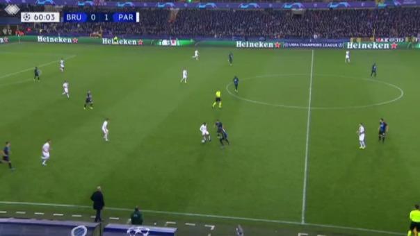 Kylian Mbappé anotó tres goles para PSG ante Brujas