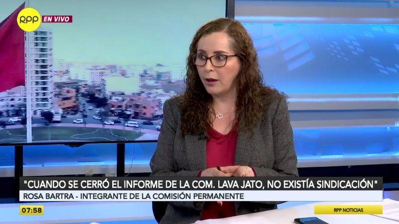 Rosa Bartra estuvo esta mañana en los estudios de RPP Noticias.