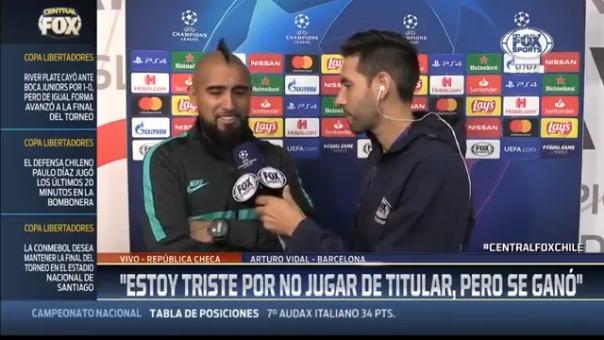 Arturo Vidal habló de la situación de Chile.