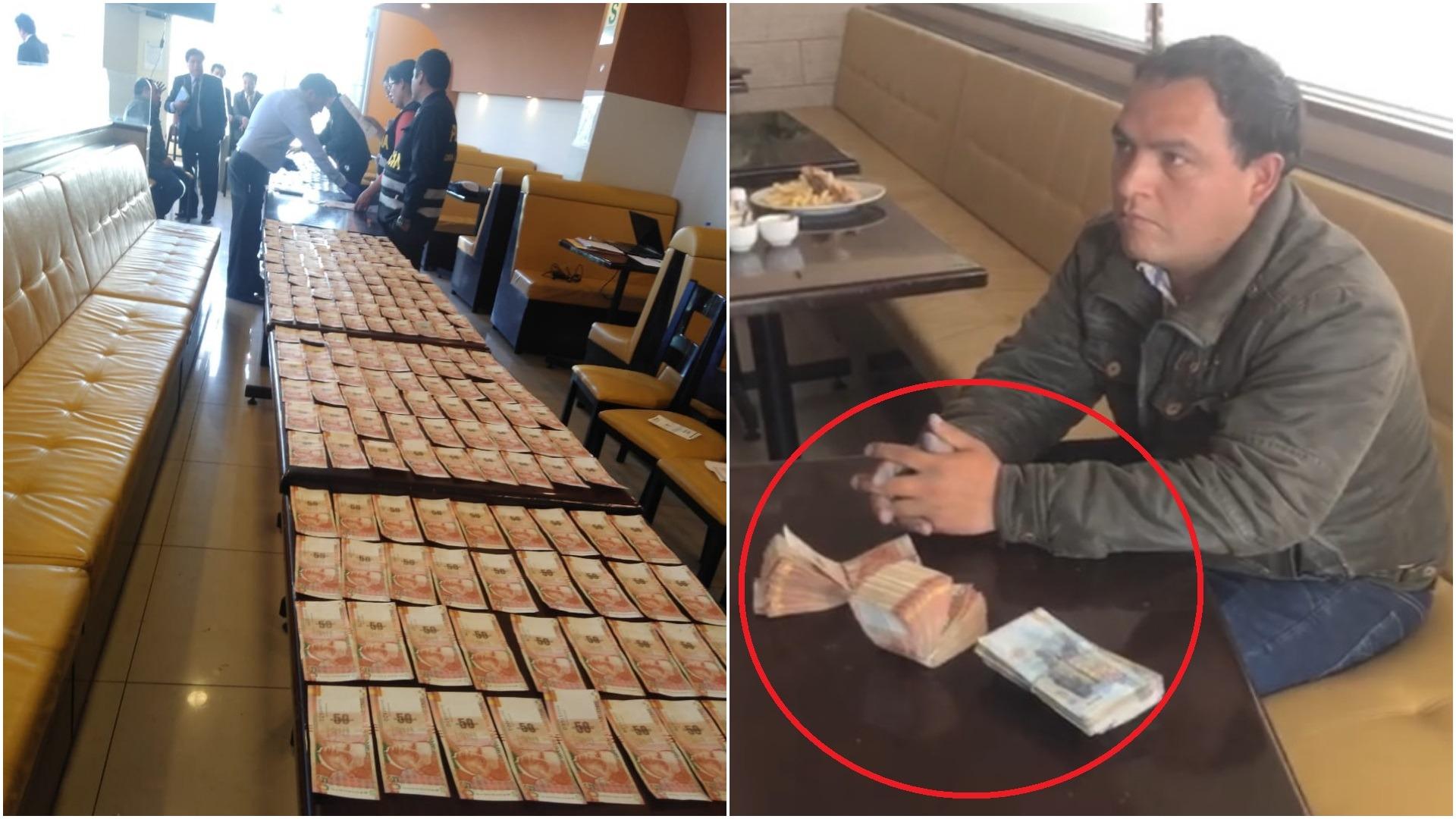 Sujeto detenido con coima de S/ 30,000 soles