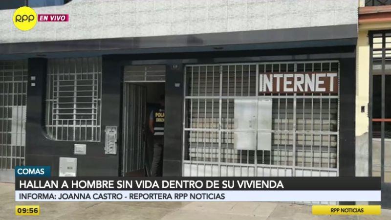 El crimen ocurrió en esta casa de la avenida Carabayllo, en Comas.