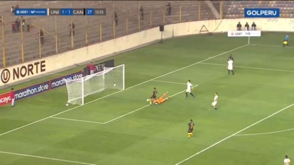 Así fue el gol errado por Sandro Rengifo ante Universitario.