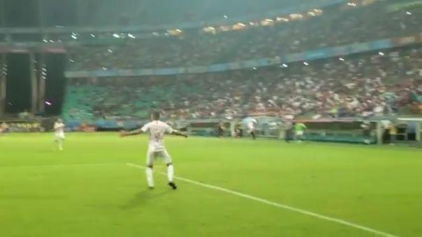 Así fue el segundo gol de Paolo Guerrero contra el Bahía.