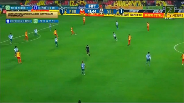 Edison Flores marcó un golazo para el 2-1 de Morelia ante Santos por la Liga MX
