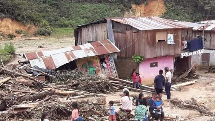Deslizamientos de tierra y lodo en Chanchamayo