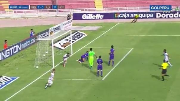 Alianza Lima sufrió el gol en el primer tiempo.,