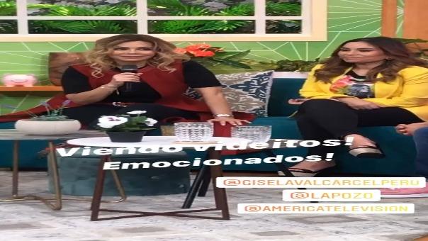 Gisela Valcárcel llora al recordar sus inicios en la TV: