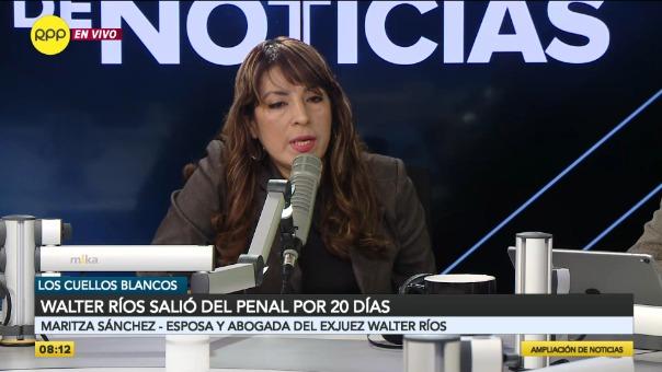Maritza Sánchez, esposa de Walter Ríos.