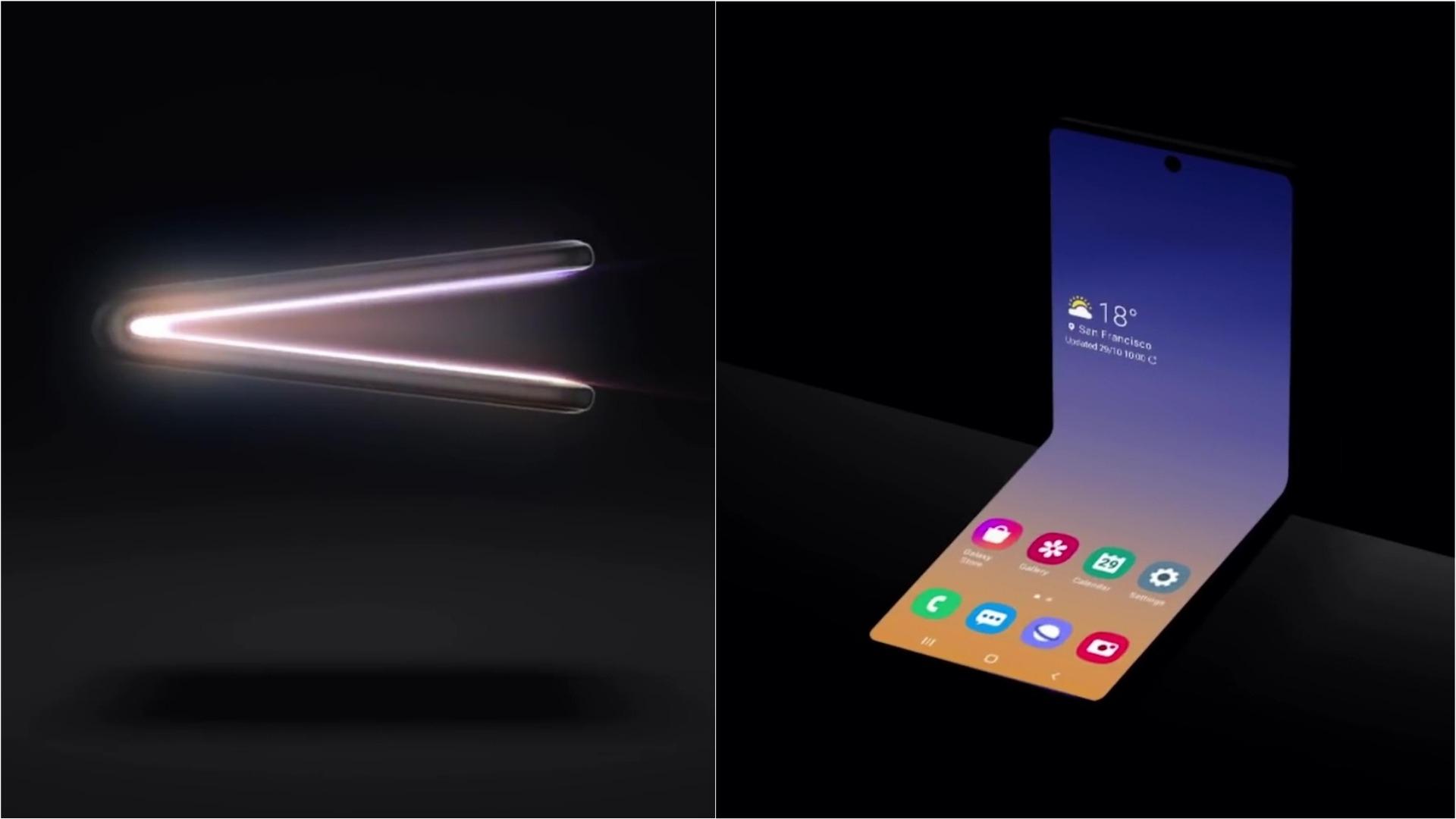 Samsung opta por un nuevo tipo de pantalla plegable.
