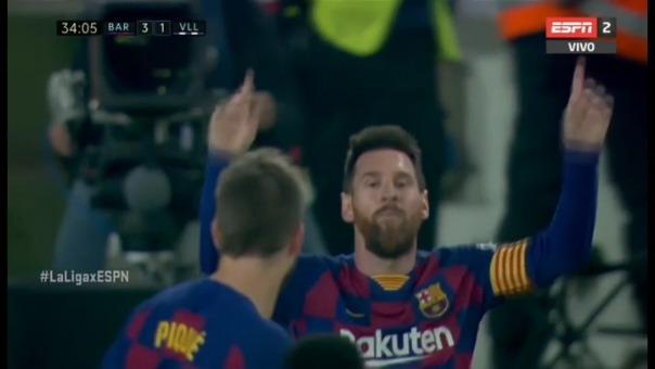 Así fue el golazo de tiro libre de Lionel Messi.