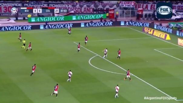 Así fue el gol de Nicolás de la Cruz.