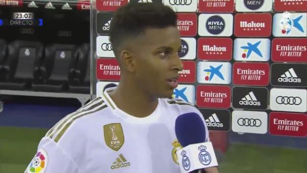 El delantero declaró tras la goleada del Real Madrid.
