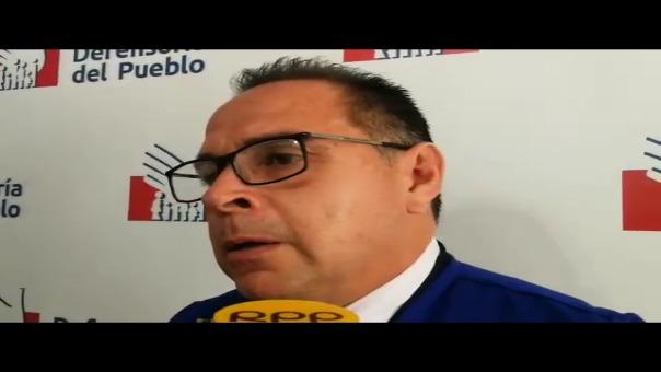 Declaraciones de Federico Corzo, representante de la Defensoría del Pueblo
