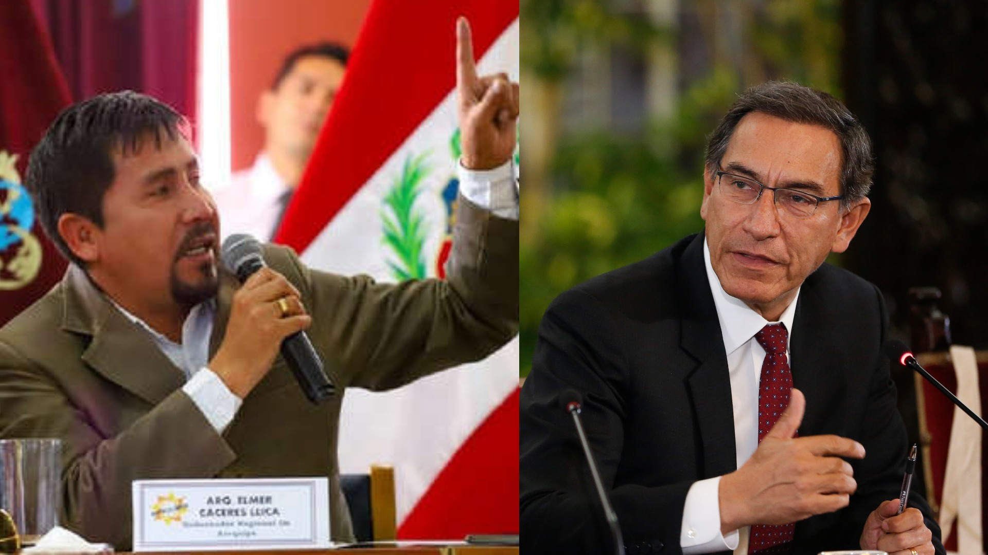Elmer Cáceres, gobernador regional de Arequipa
